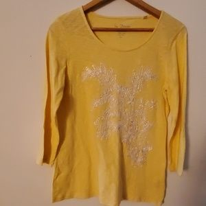 Chico's Long Sleeve Embroidered Blouse - 1